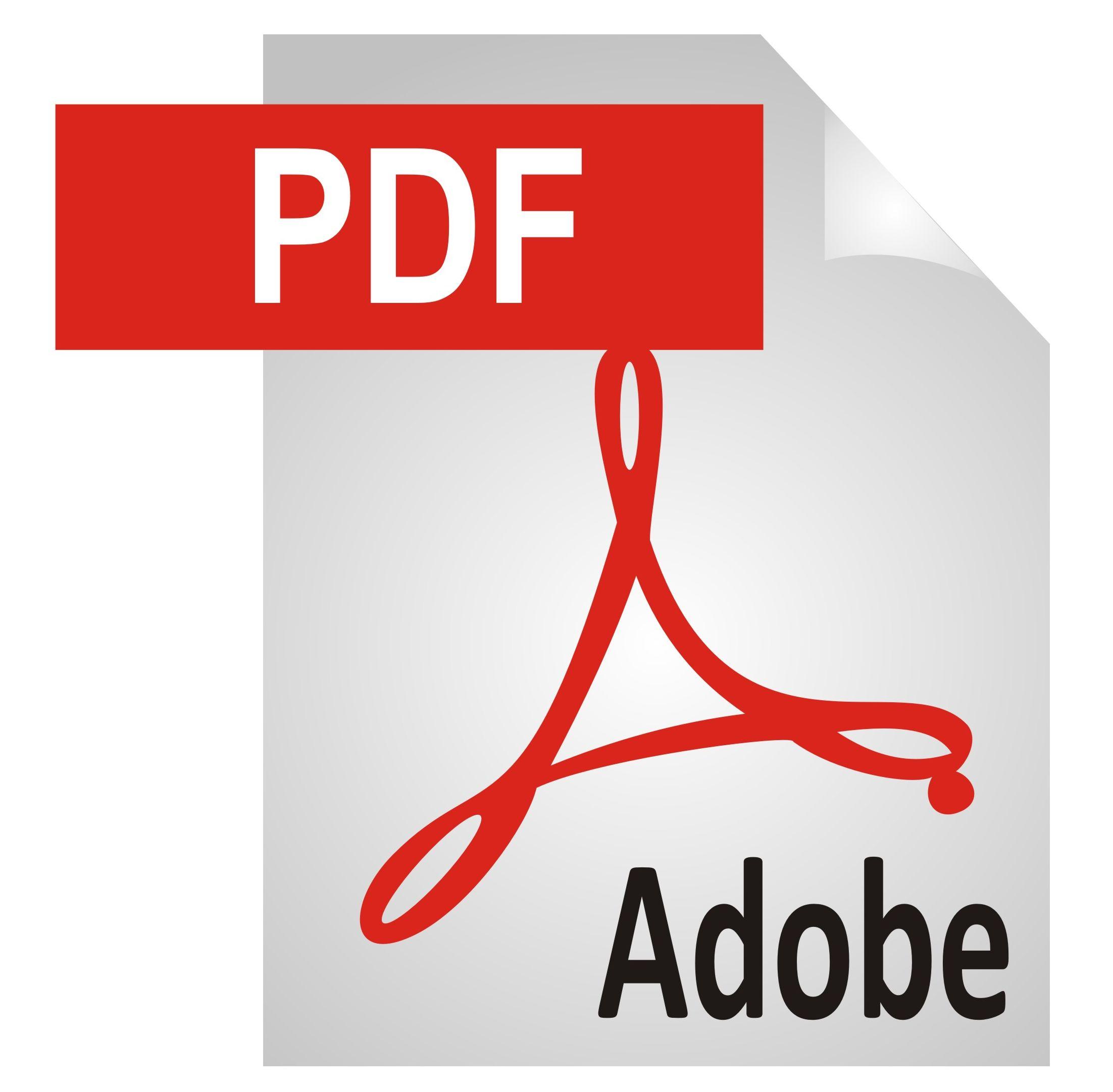 17 Adobe PDF Document Icon Images