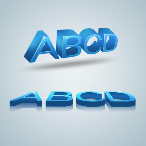 Alphabet Letters 3D PSD File