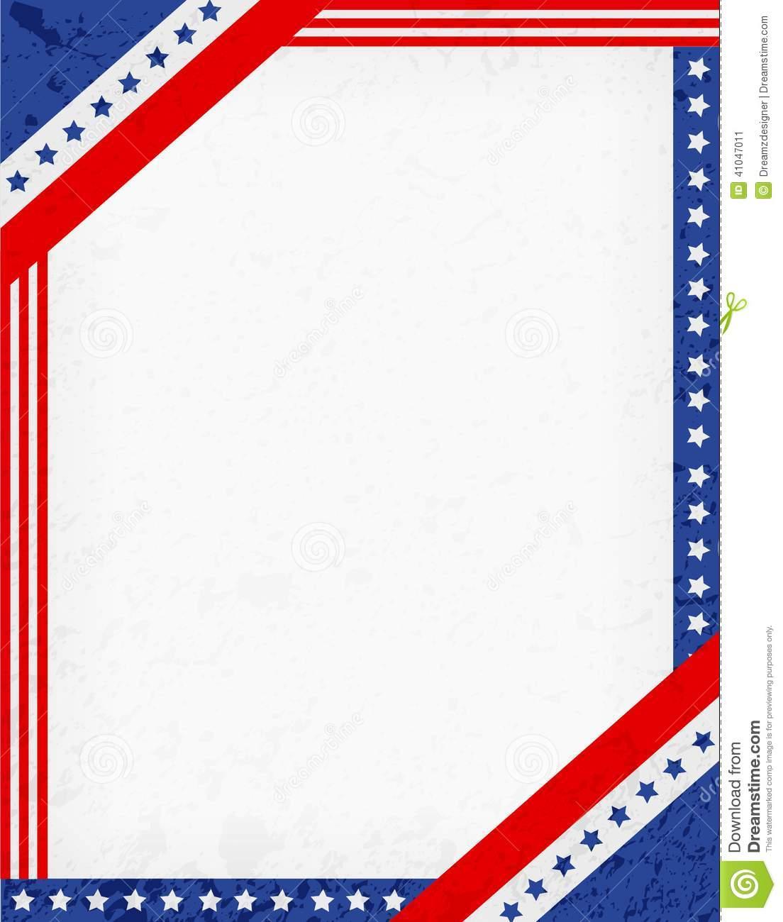 13 Patriotic Vector Borders Images - American Flag Border ...