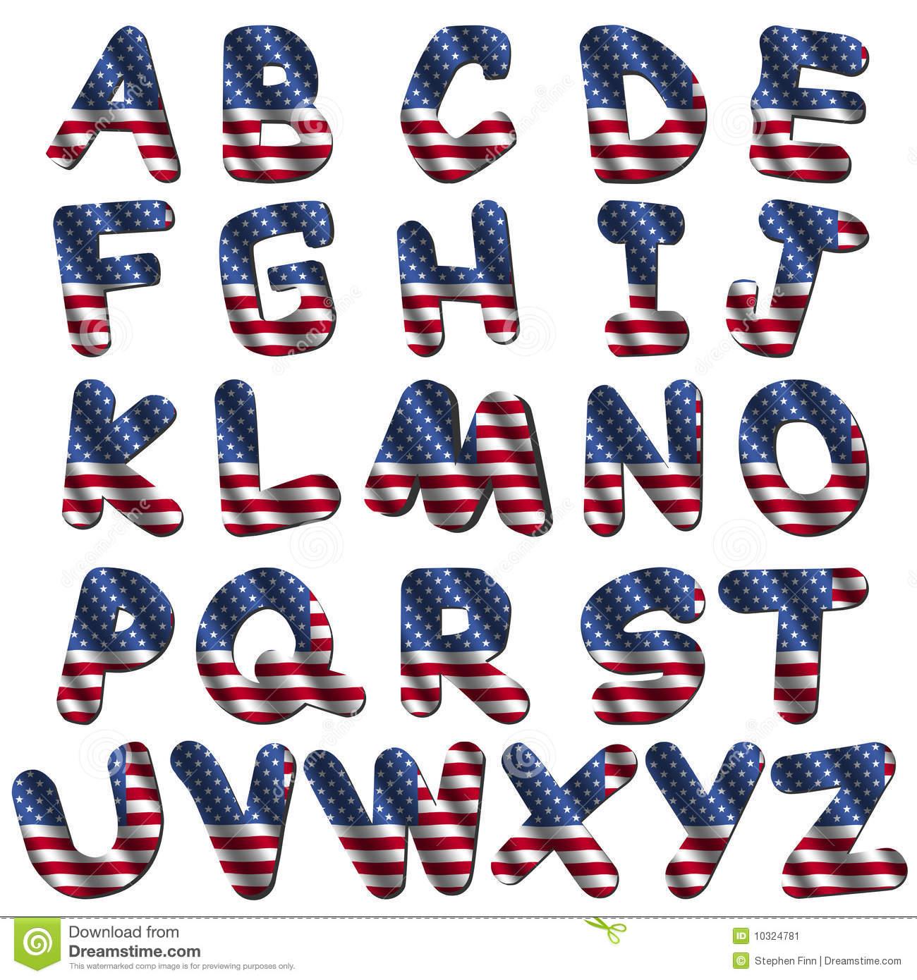 17 Free Flag Font Images - American Flag Font, American