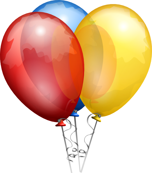 Animated Birthday Balloons Clip Art