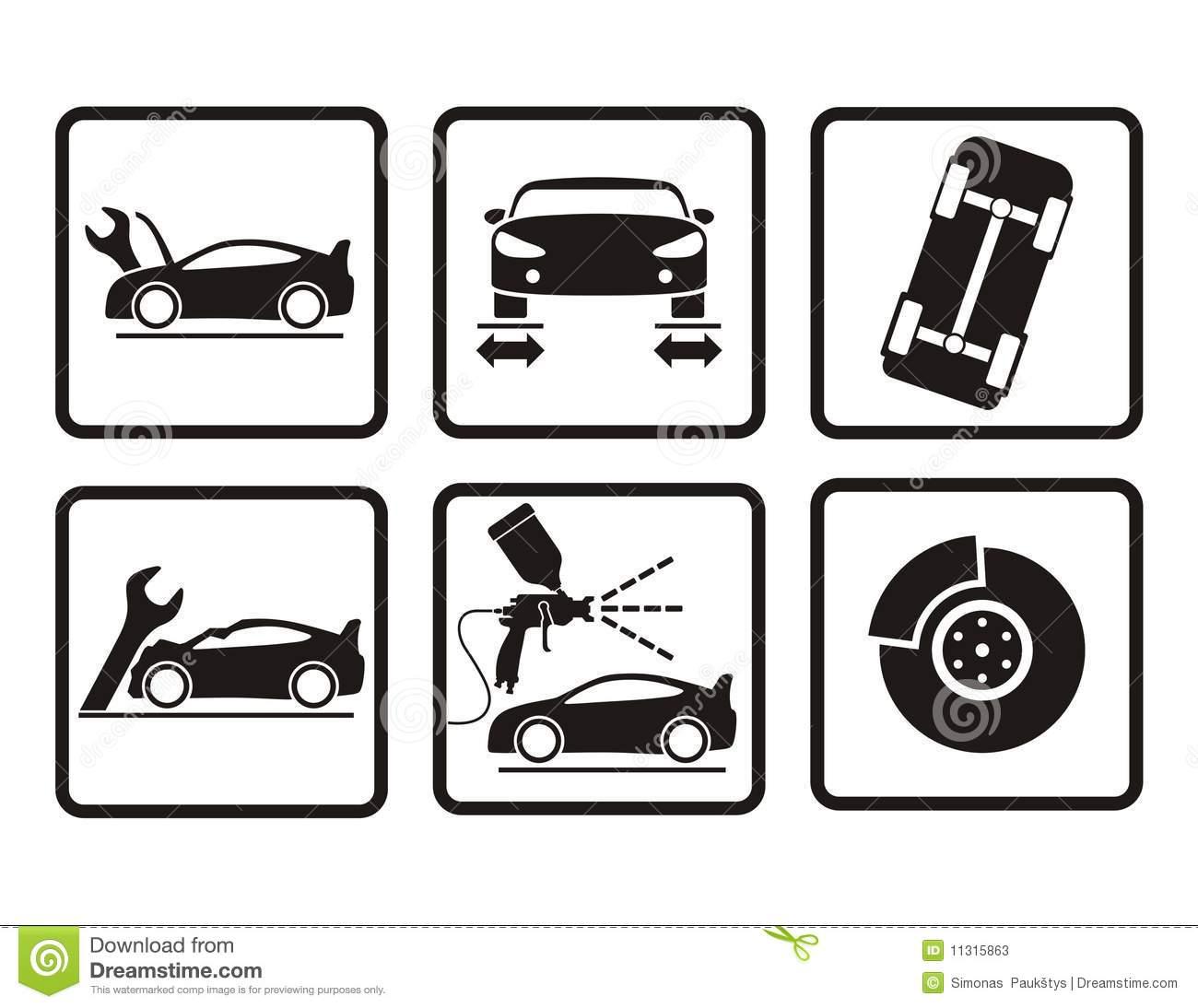 Auto Body Repair Clip Art Icon