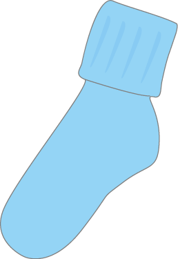 Baby Blue Socks Clip Art