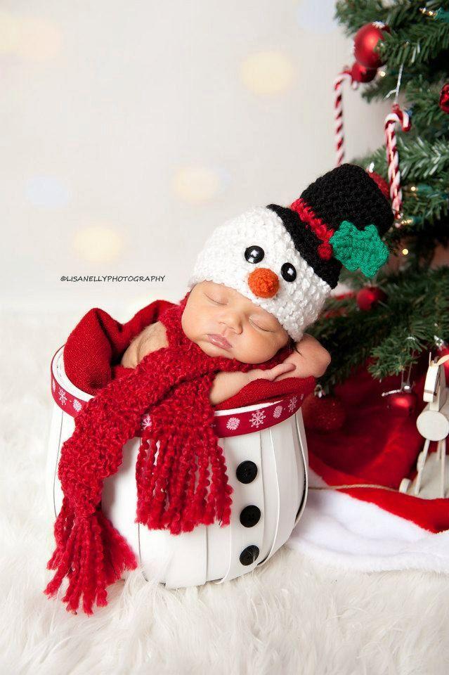 14 Newborn Photography Christmas Snowman Images