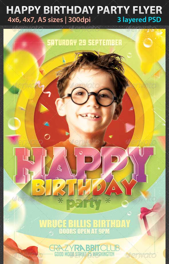 17 Happy Birthday Flyers PSD Images