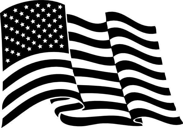 10 USA Flag Vector Black Images