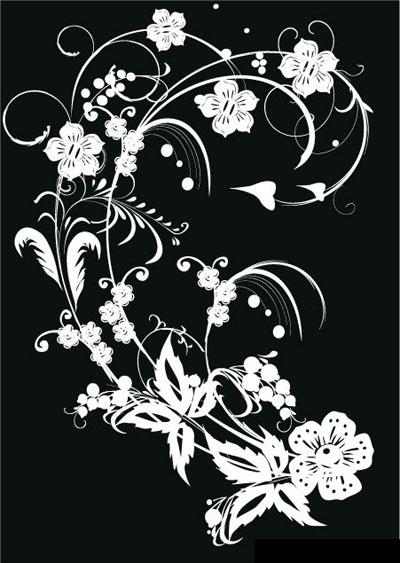 13 Black And White Flower Vector Art Images
