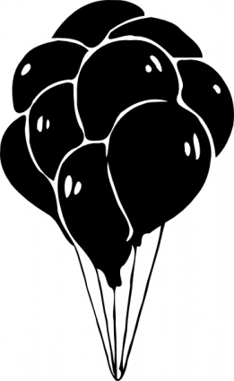 Black Balloon Clip Art Free