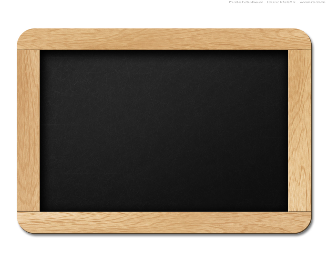 10 Chalkboard Template PSD Images