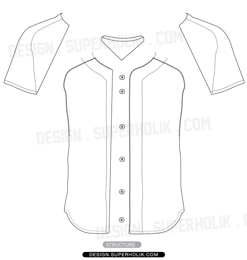 11 Baseball Jersey Template Images