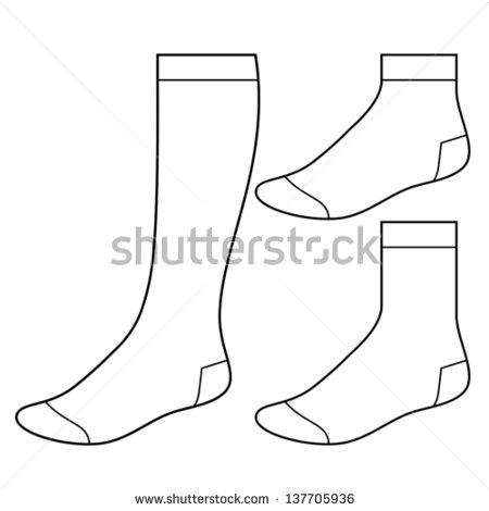 Blank Sock Template