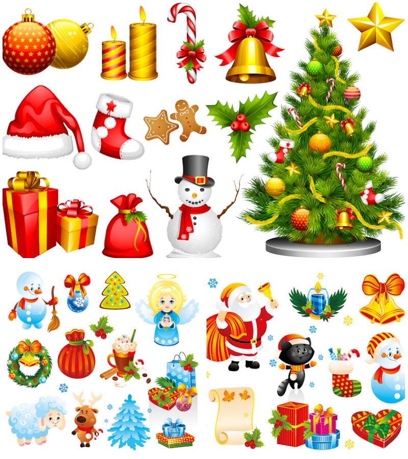 15 Christmas Cartoon Vector Images