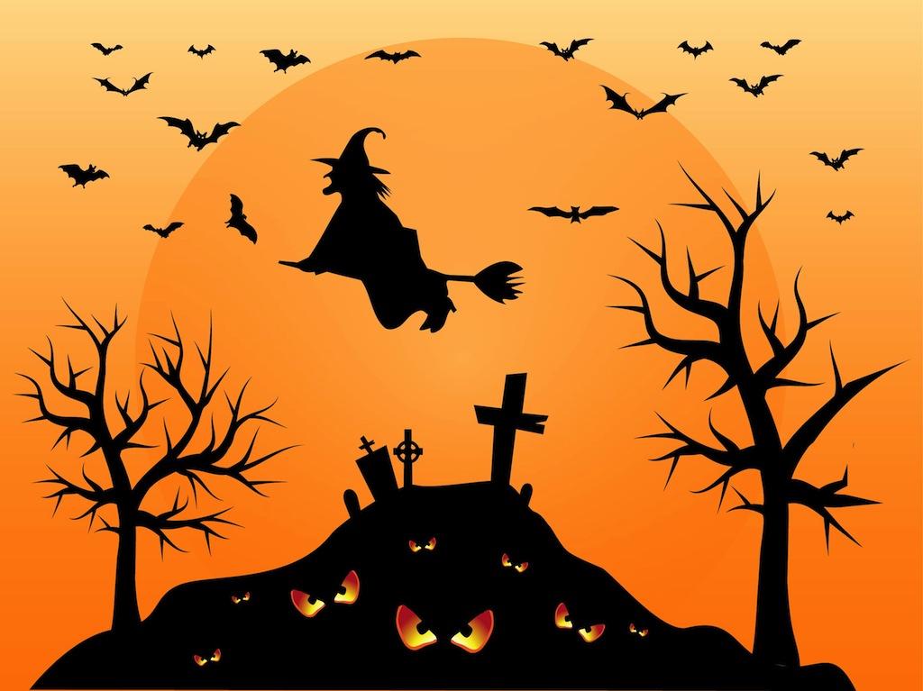 Cemetery Halloween Graphics