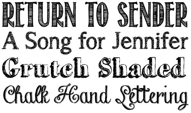 14 Cool Chalkboard Font Images