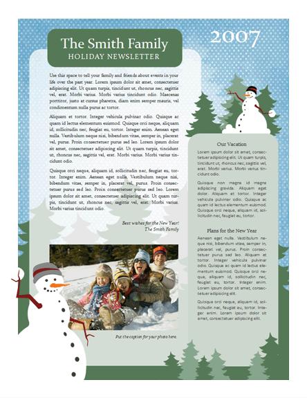 Christmas Family Newsletter Template