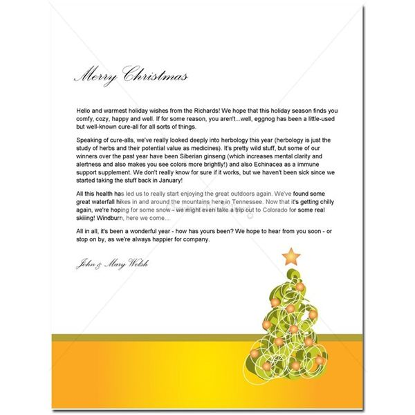 Christmas letter template roho4senses christmas letter template spiritdancerdesigns Images