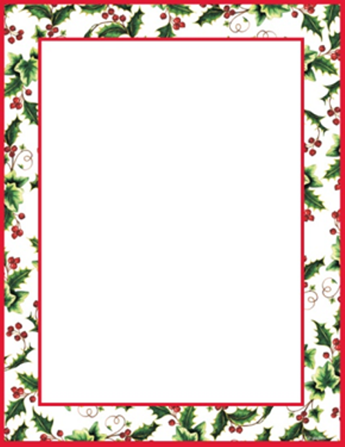 Christmas Letterhead Borders