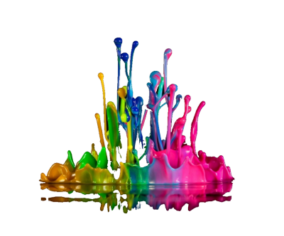 14 Color Splash PSD Images