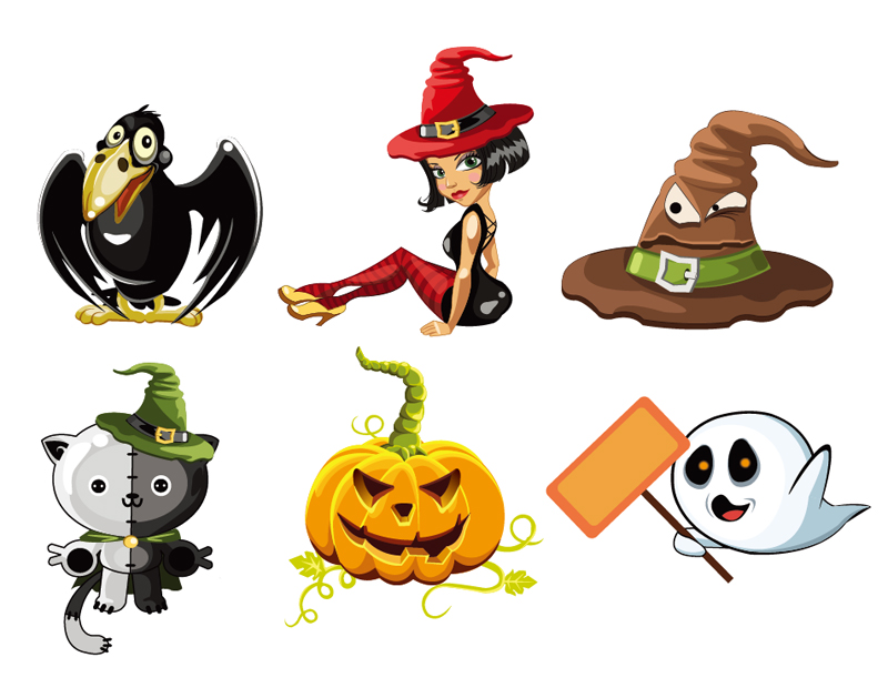Cute Halloween Character Vectors