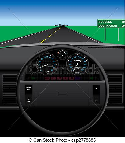 Dashboard View Clip Art