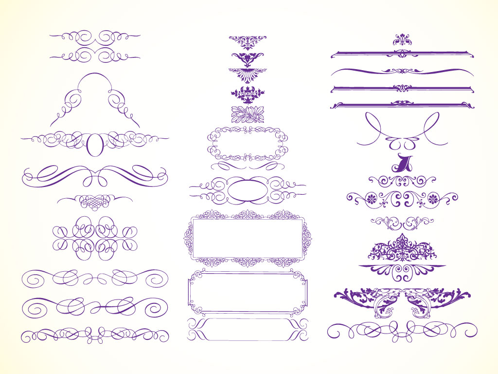 12 Modern Vector Frame Clip Art Images