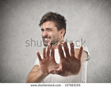 Disgusted Face Stock Photo