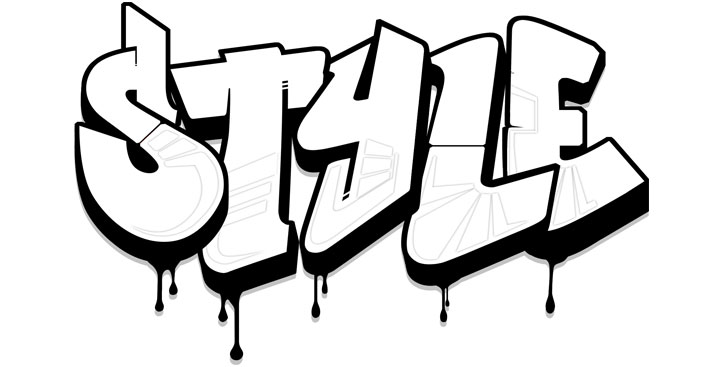 Dripping Graffiti Letters