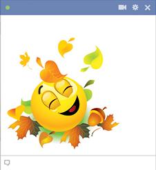 9 Pumpkin Smiley Emoticon Autumn Images