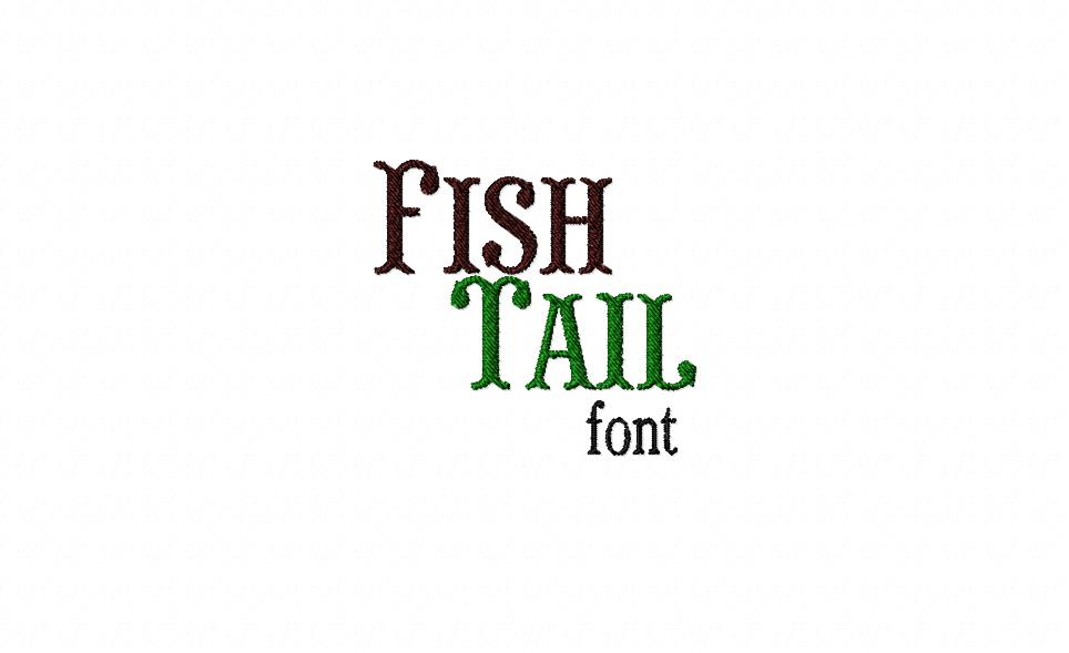 Fish Tail Machine Embroidery Font
