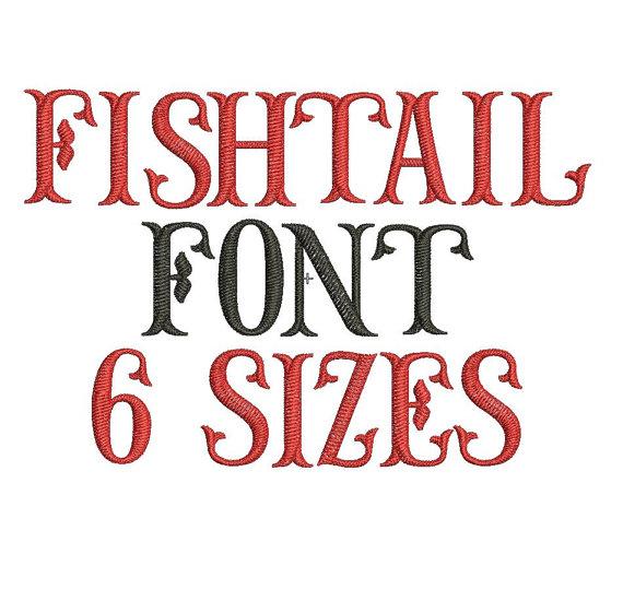 Fishtail Monogram Font Machine Embroidery
