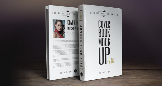 17 Book Cover Mockup Template PSD Images