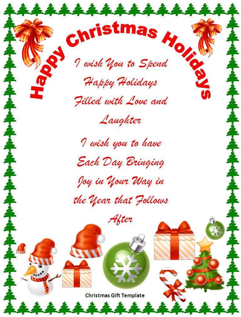 17 Free Christmas Templates For Word Images Free Word