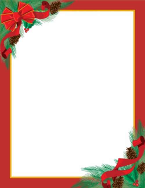 19 free christmas letter templates downloads images free for Free christmas stationery templates