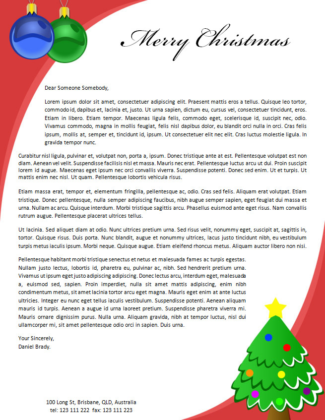 19 free christmas letter templates downloads images free christmas free christmas letterhead templates spiritdancerdesigns Gallery
