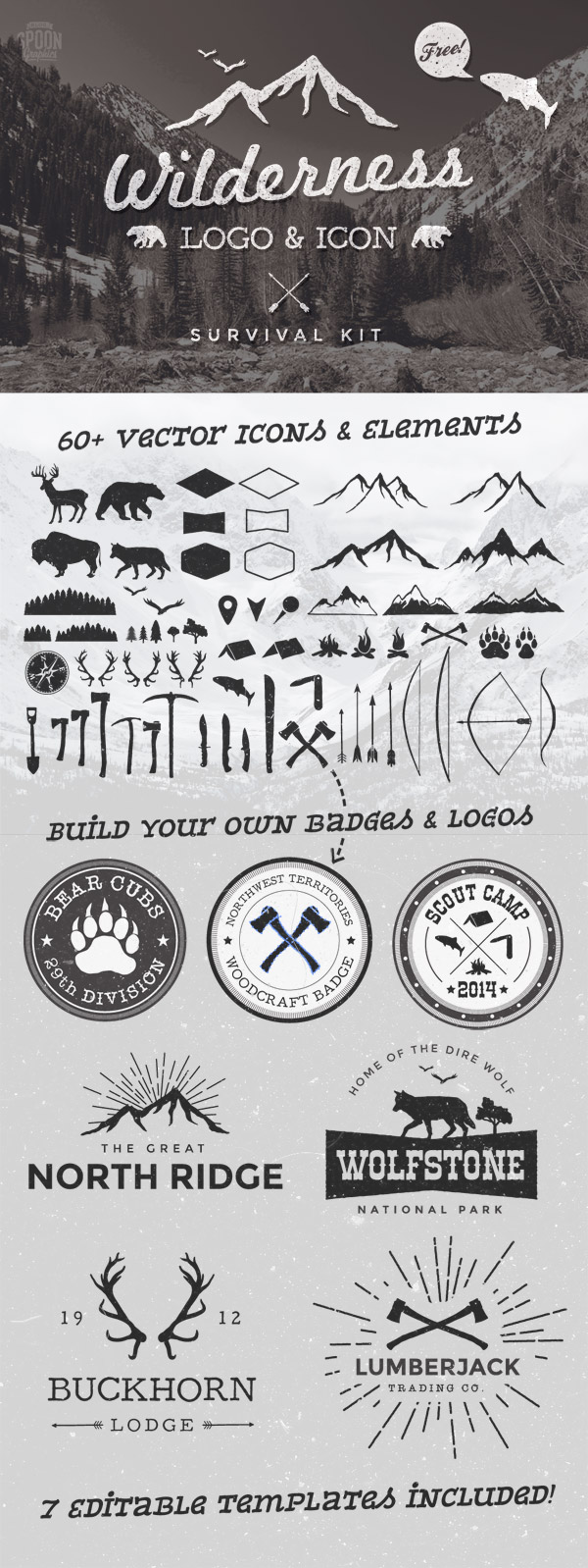 9 Survival Icons Vector Images