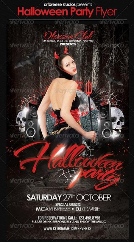 Free Halloween Flyer PSD