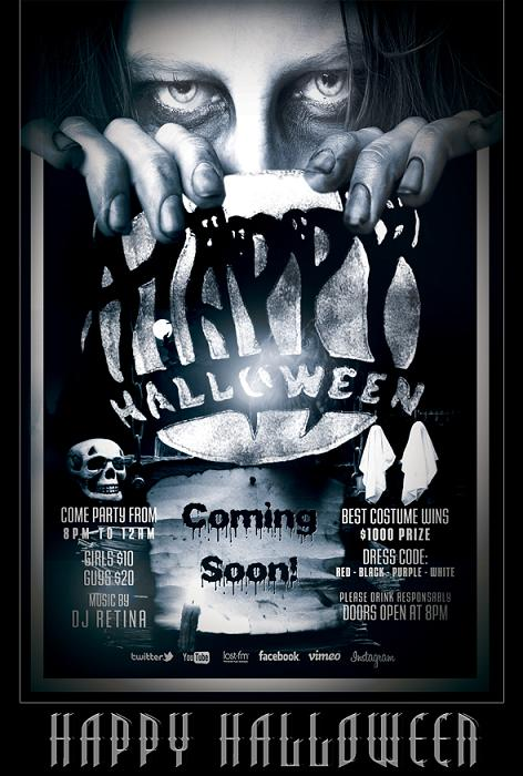 15 Free Halloween PSD Flyer Template Images