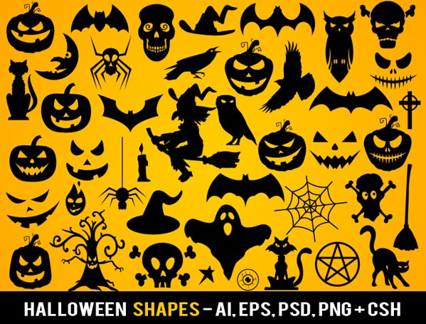 Free Photoshop Halloween Shapes