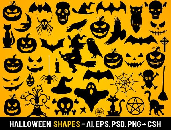 Free Photoshop Halloween Shapes