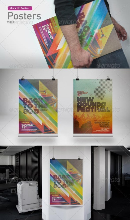Free Poster Mock Up Psd