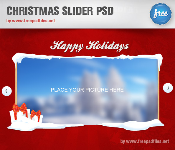 15 Christmas Free PSD Templates Images