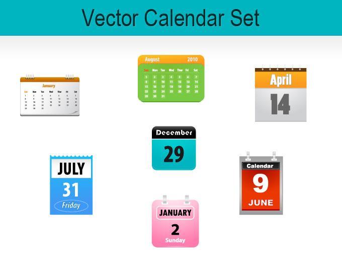 8 Vector Calendar Icon Images