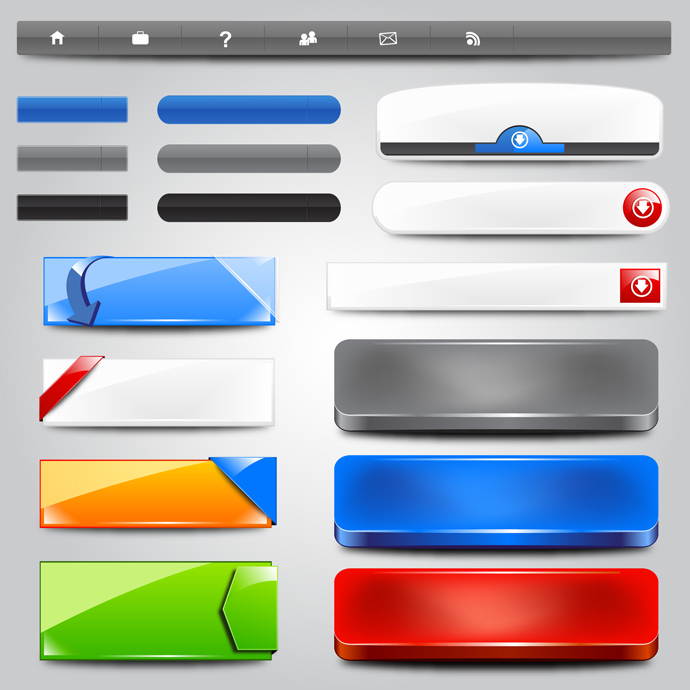 Free Web Buttons Banners Design