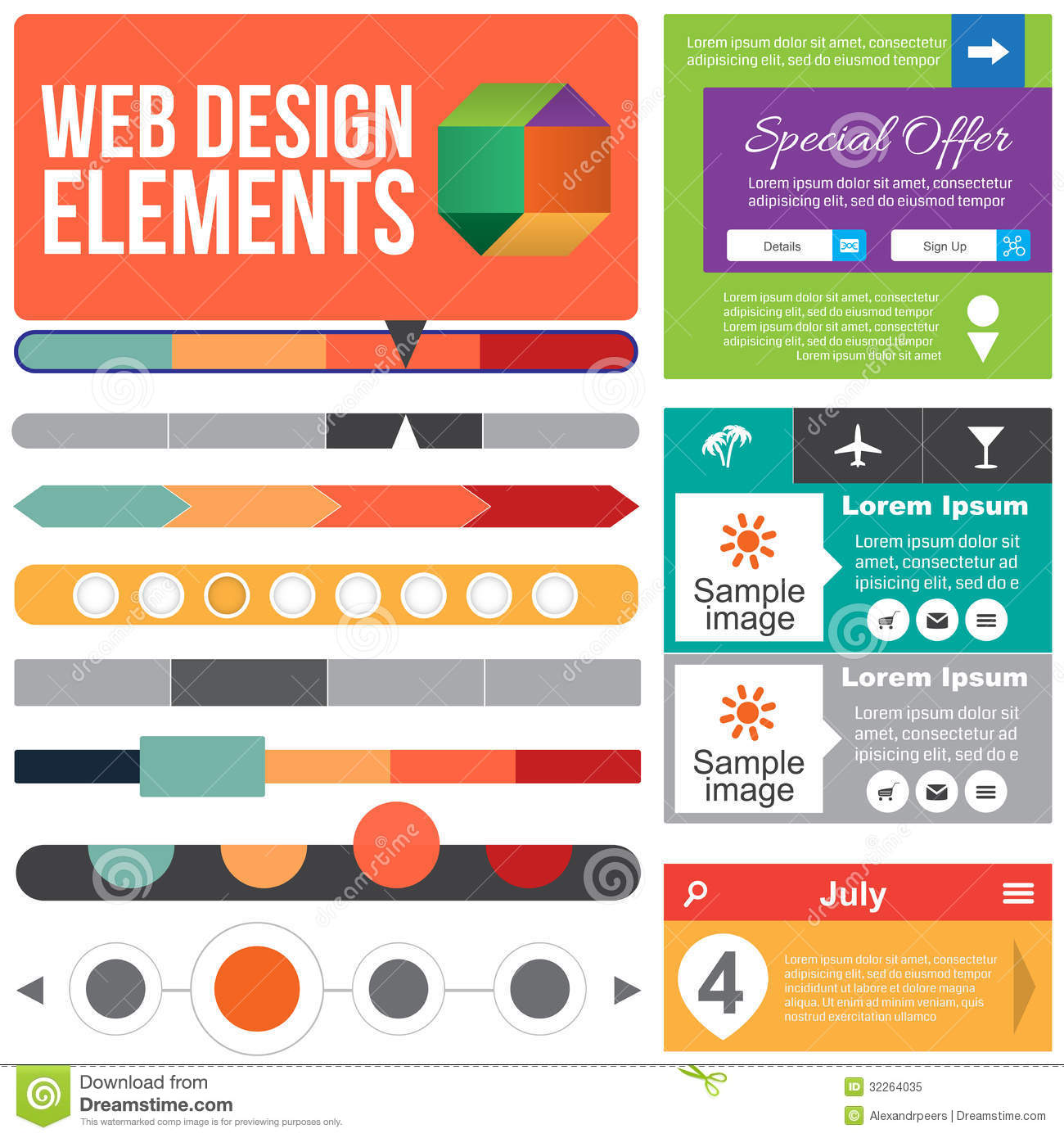 14 Web Design Elements Images