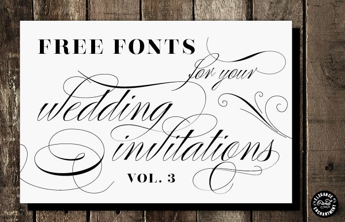 Free invitation font download images wedding