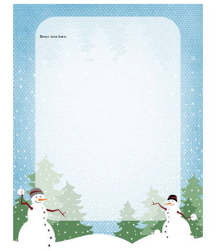 17 Free Christmas Templates For Word Images