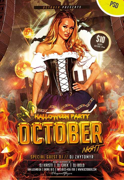 Halloween Dance Party Flyer Templates Free