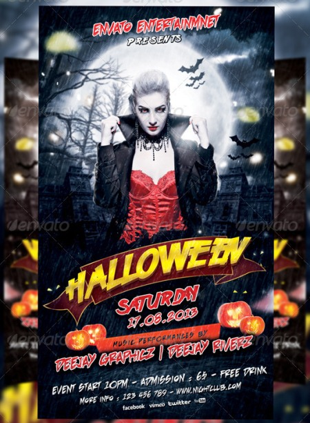 15 free halloween psd flyer template images free halloween flyer