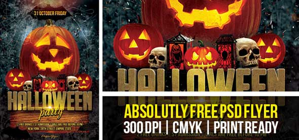 Halloween Party Flyers Templates Free