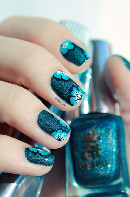 Hawaiian Flower Nails
